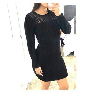 Michale Kors black long sleve dress